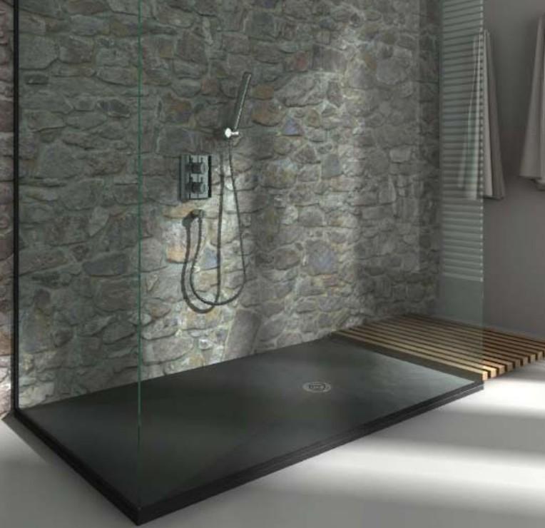 Baignoire et sanitaire receveur de douche extra plat carrelage for Modele carrelage douche italienne