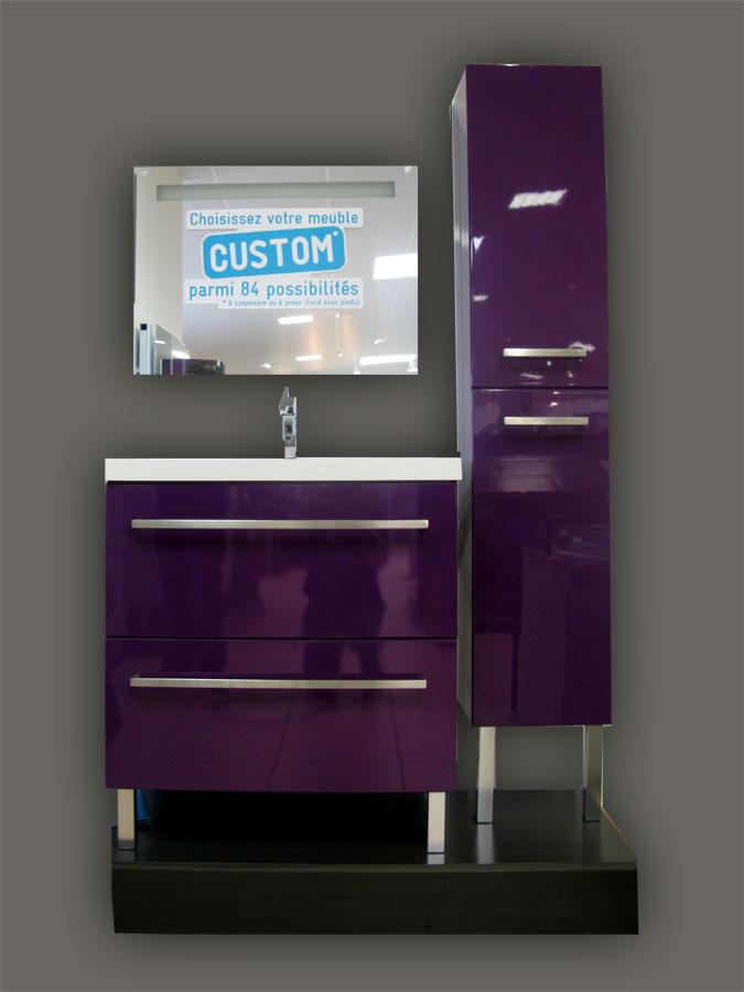 Carrelage en ligne faiences cuisine sanitaire toulouse paris - Meuble salle de bain gris pas cher ...